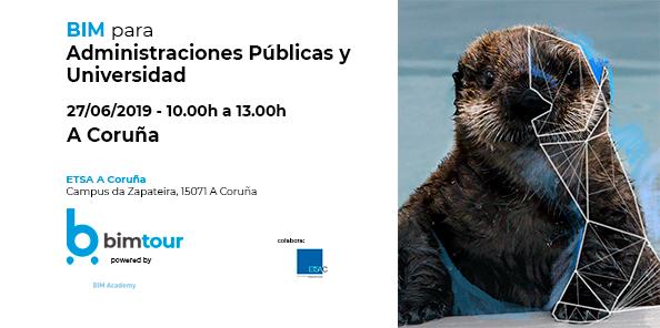 Sigue el BIMtour en junio: A Coruña el 27 de junio sesión dedicada a Administraciones y Universidad