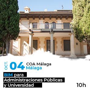 BIM para Administraciones Públicas y Universidad en Málaga