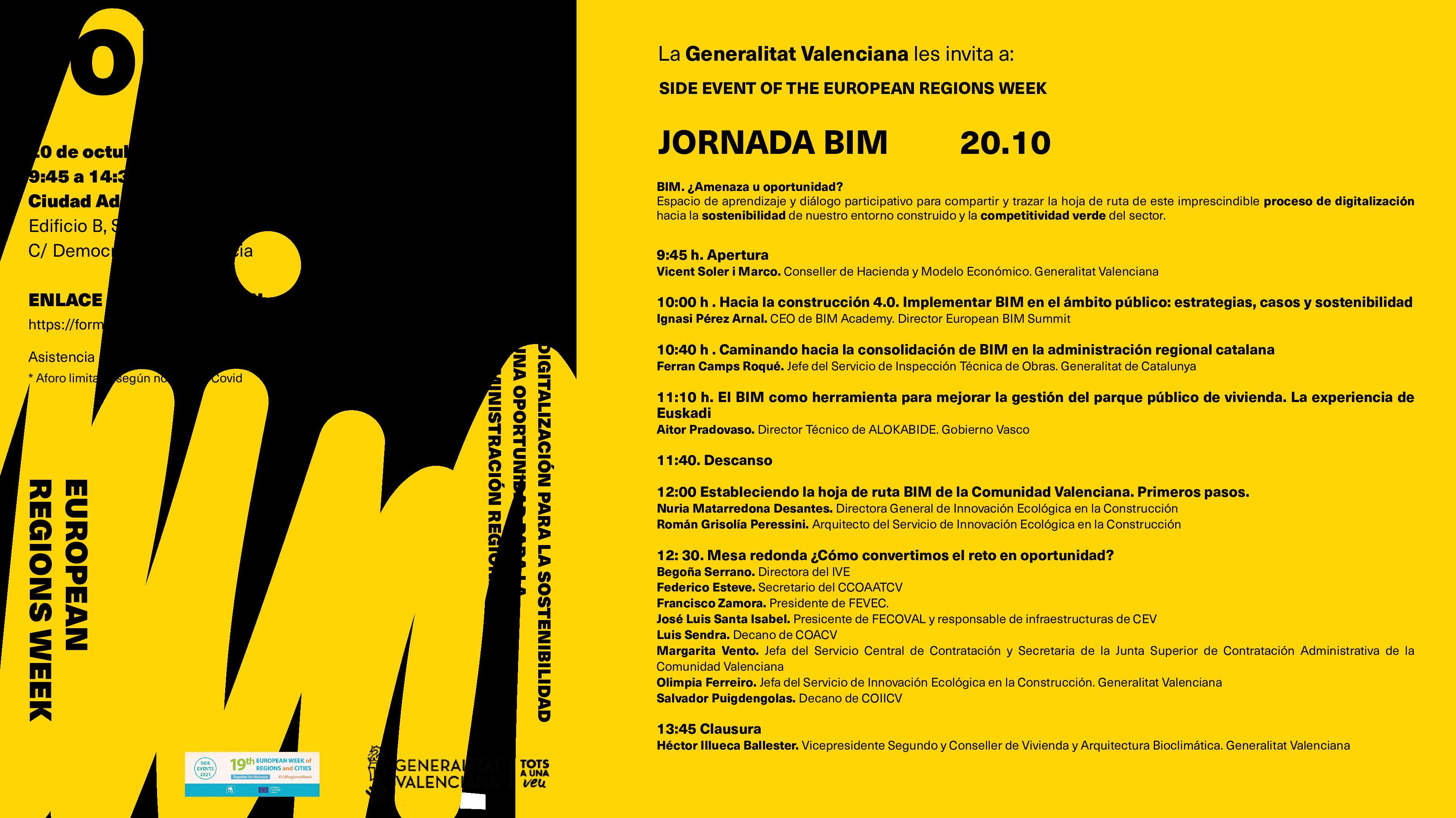 Jornada: Digitalización para la sostenibilidad. Una oportunidad para la administración pública regional valenciana